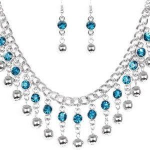 aa85e97c0371 Wicked Wonders VIP Bling Paparazzi Jewelry - Necklace - Pageant Queen Blue  Gem